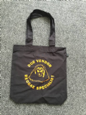 Dub Vendor Organic Black / Orange Shopper Tote Bag